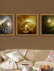 Still Life Framed Canvas / Framed Set Wall Art,PVC Golden No Mat With Frame Wall Art