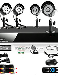 Zmodo® 8 CH Channel DVR 4 Outdoor 600TVL CCD CCTV Surveillance Security Camera System