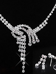 bodas elegantes pendientes de cristal rhinestone y de la joyería del collar