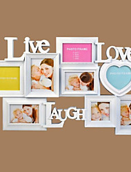 "18.75""H Modern Style Polyresin Photo Wall Frame"