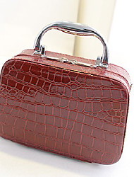 Fanny.C Women's Fahion Metal Crocodile Tote(Wine)