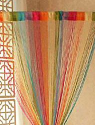 """Künstlerische Misch Farben-Regenbogen Vorhang Line - zufällige Farben (39 """"W x 78"""" L)"""