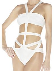 Cut-out Bandage Uma peça Swimwear