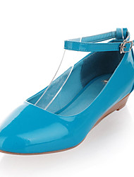 Leatherette Women's Flat Heel Ballerina Flats Shoes (More Colors)