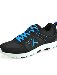 Homens Xtep Black Suede malha Running Shoes