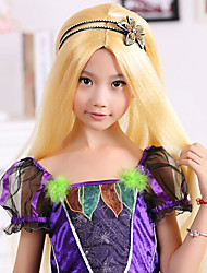 100% Kanekalon Synthetic Princess Style Golden Blonde Children's Wig for Festival Party