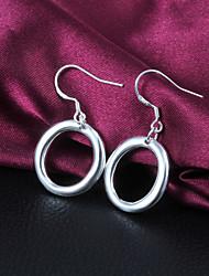Boucles d'oreilles pendantes femmes alliage de mode de qualité slivery (1 paire)