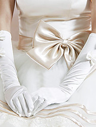 Elbow Length Fingertips Glove Elastic Satin Party/ Evening Gloves/Bridal Gloves