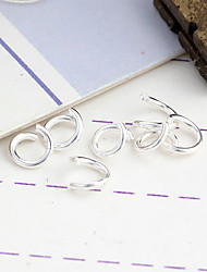 Durable Round Silver-Plated Clasps 200 Pcs/Bag
