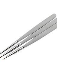 3PCS Nail Art Painting Drawing Pen Brush White Handle Kits