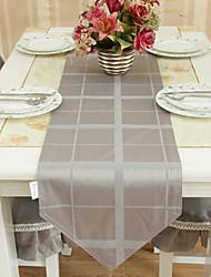 Yarn Dye Grey Table Runner