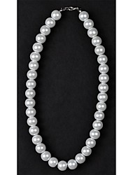 12mm 1PC Classic White Pearl Necklace