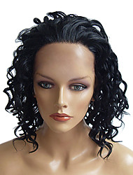 Lace Front Fashionalbe Synthetic Heat-resistant Fiber Curly Wig(Natural Black)