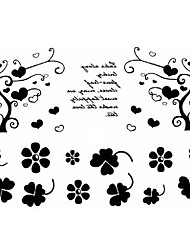 5 Pcs Heart Tree VS Leaf Waterproof Temporary Tattoo(11cm*15cm)