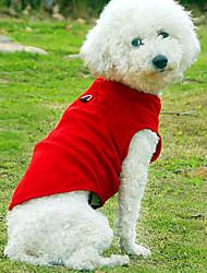 Hunde T-shirt Rot / Blau / Schwarz / Weiss / Rosa / Grau / Rose Hundekleidung Sommer einfarbig