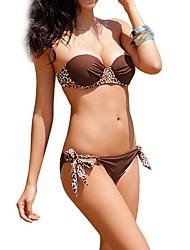 Mulheres Bandeau Bikini Costura
