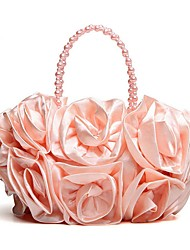 Women's Fashion Silk Flower Evening Bag