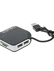 Memory Card Reader All-in-one con HUB USB (nero)