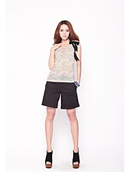 Simple flanc Casual Black Shorts 101122K017 de Zoely femmes