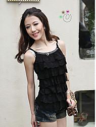 1618 Women's Fashion Strap Layer Upon Layer Lace Knitwear Vest
