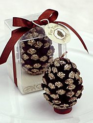 Brown Pine Cone Candle