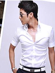 Manches Courtes Blanc shirt U & F des hommes
