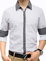 Men's Long Sleeve Shirt Fashion Splash-ink