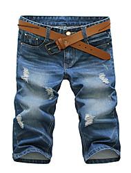 Dos homens coreano M-Letter Imprimir cortadas Jeans