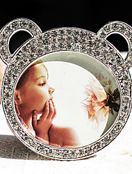 Lovely Bear Shape Metal Rhinestone Picture Frame