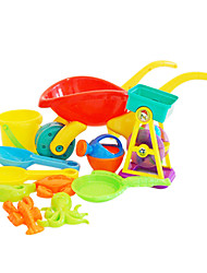 11 Pieces Large-sized Multicolored Trolley and Waterwheel Funnel Toy Set