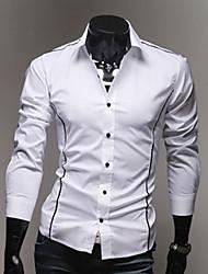 U & F Herren Ständer Neck White Shirt