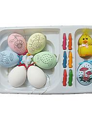 Festival de plástico Ovo Oriental Com grátis Crayon e Acessórios (6pcs)