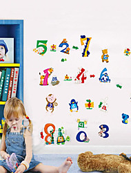 1PCS Colorful Number Wall Sticker