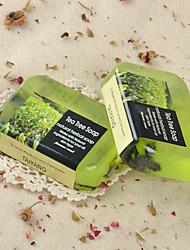 Таиланд Д-нарн ручной Зеленый чай эфирное масло Мыло Отбеливание Баланс нефти секреция 90г