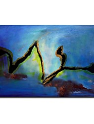 Hand Painted Oil Painting Abstract  Blue Painting with Stretched Frame