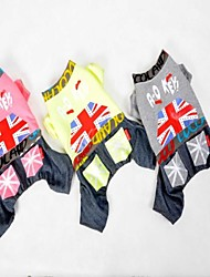 Fashion UK Flag Four Legs Hoddie for Pet Dogs (Assorted Colors, Sizes)