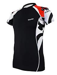 Noir de remise en forme élastique Skinny T-shirt à manches courtes vélo à séchage rapide de l'encre KOOPLUS arc-en-Men