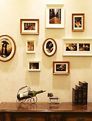 Weiß Golden Foto Wall Frame Collection Set von 9