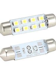 Merdia 4W 150LM feston 41MM 8x1210SMD LED lumière Blanche Bulb pour volant de voiture de lumière / lampe de lecture - (2 PCS / 12V)