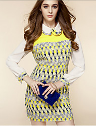 TS Print Floral Print Pan Collar Dress