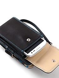 Luxury Spain Full Grain Cow Leather Purse with Mobile Phone Pockeet and Card Holder Place