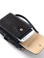Luxe Espagne pleine fleur de vache bourse de cuir avec le téléphone portable Pockeet et titulaire de la carte Lieu