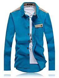 Stand manches longues Col chemise adaptée des hommes