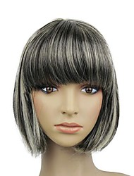 Capless Heat-resistant Fiber Short Mixed Color BOBO Full wig