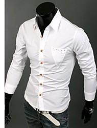 Masculina Primavera de Moda de Nova manga comprida Casual Shirt