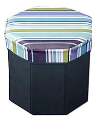 Stylish Blue Stripe Lidded Storage Box