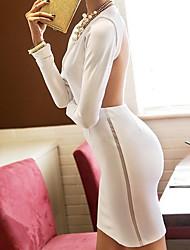 Europa und die Vereinigten Staaten Frauen Sexy Frauen kultivieren rückenfreies Kleid-Abend-Kleid