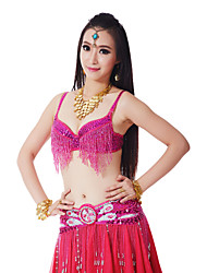 Dancewear Women's Sequin Tassels Polyester Belly Dance Bra(More Colors)