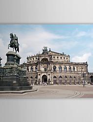 Натяжные Печать холст искусства Пейзаж Бронзовая скульптура и архитектура в Германии