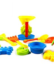 Multicolored Spade,Moulds and Sand Timer Tool Playset